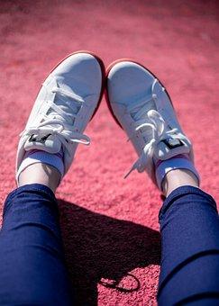 Shoes, Sneakers, Footwear, Tennis, Feet, Legs, Woman