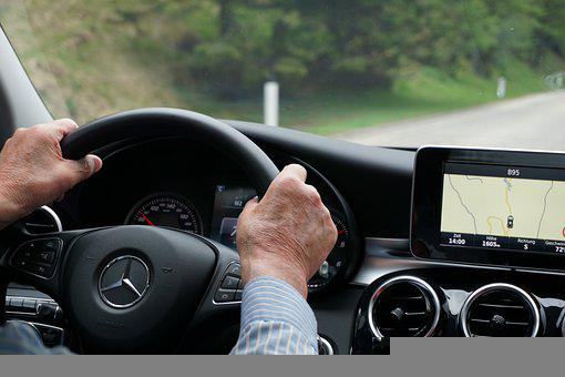 Man, Driving, Car, Mercedes-benz, Vehicle, Drive, Benz