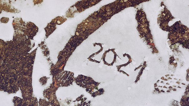 Snow, New Year, 2021, Holiday, Winter, Postcard