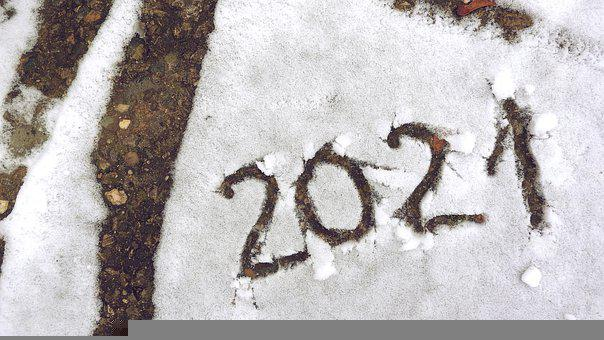 New Year, 2021, Snow, New Year Greetings, Celebration