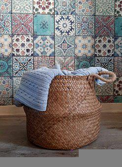 Basket, Woven, Hamper, Laundry, Laundry Basket