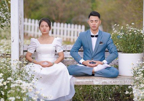 Couple, Wedding, Portrait, Bride, Groom, Man, Woman