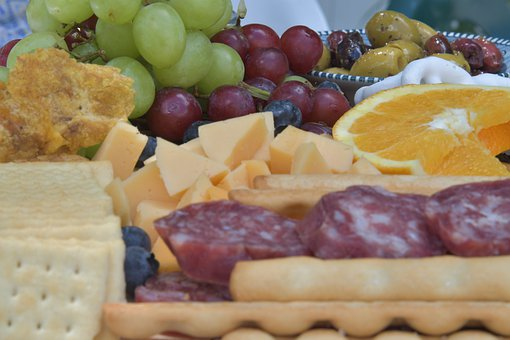 Cheese Platter, Food, Snack, Cheese, Biscuits