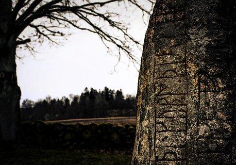 Runestone, Runes, Inscriptions, Viking Age, Vikings