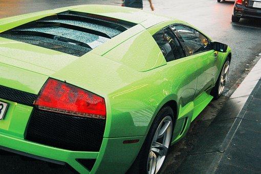 Lamborghini Murcielago, Sports Car, Road, Car, Vehicle