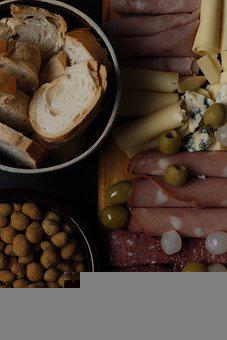 Chacurterie, Mortadella, Olives, Onion, Food, Peanuts