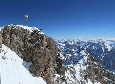Zugspitze, Cross, Peak, Mountains, Mountain Range