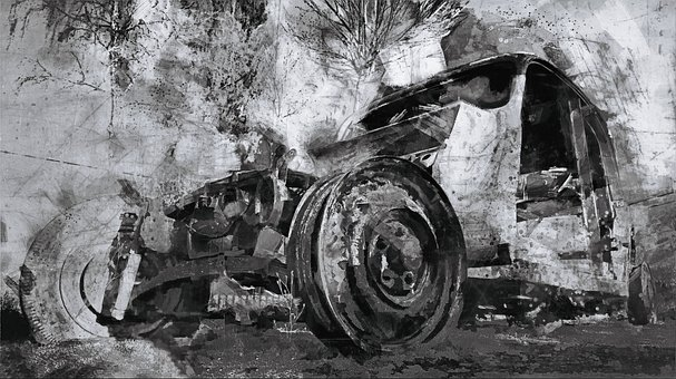 Vehicle, Wheels, Painting, Oldtimer, Historical