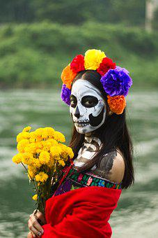 La Catrina, Girl, Costume, Portrait, Tradition, Female