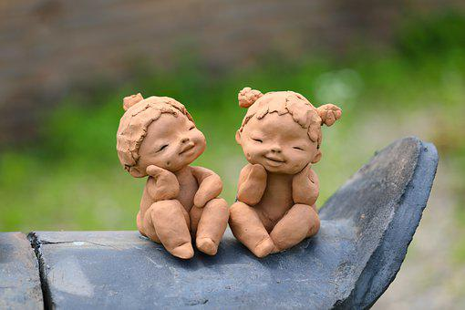 Clay Dolls, Sculpture, Children, Semiwon Garden