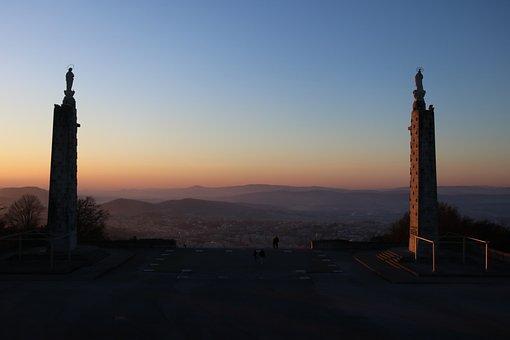 Sameiro Sanctuary, Steeple, Sunrise, Sunset, Dawn, Dusk