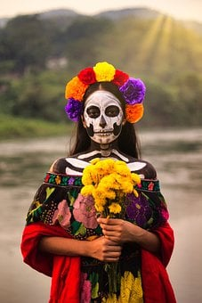 La Catrina, Girl, Costume, Portrait, Tradition, Female