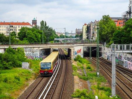Train, Railway, Bridge, Transportation, Locomotive