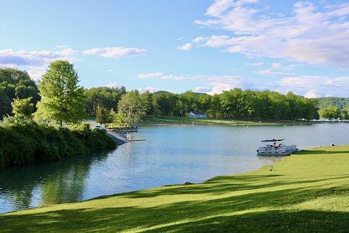 Lake, Water, Boats, West Virginia, Rv, Park, Camping