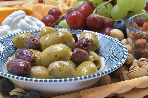 Grapes, Breadstick, Cheese, Olives, Pretzels, Nuts
