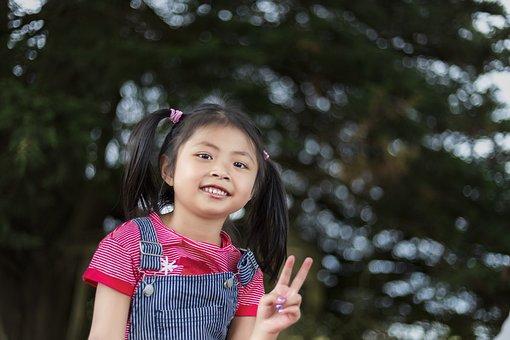 Little Girl, Cambodian Girl, Chhouk, Chhouk Net, Kids