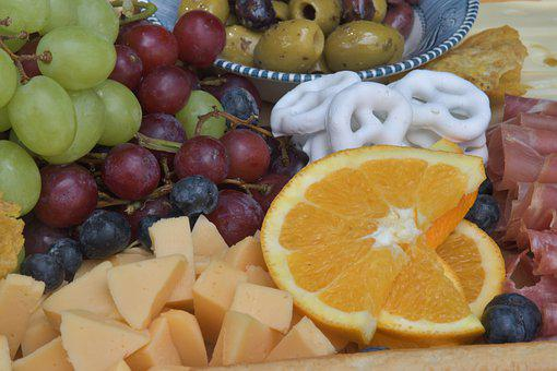 Cheese Platter, Food, Snack, Charcuterie, Fruits
