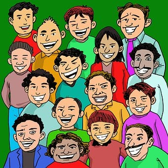 People, Crowd, Laughing, Happy, Young, Multiracial