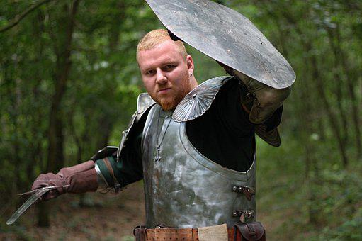 Knight, Sword, Cosplay, Costume, Man, Male, Middle Ages