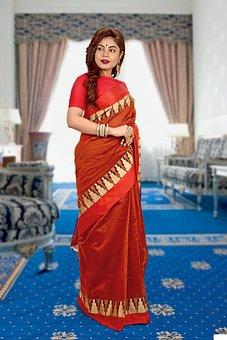 Woman, Indian Saree, Model, Girl, Female, Fashion