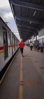 Railway, Train, Platform, Station, Railway Station