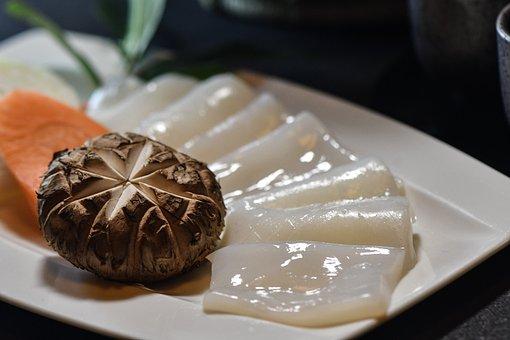 Squid, Sashimi, Shabu Shabu, Yakiniku, Raw, Squid Meat