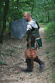 Knight, Sword, Shield, Middle Ages, Fist Shield, Armor