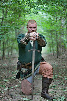 Knight, Sword, Middle Ages, Shield, Fist Shield, Armor