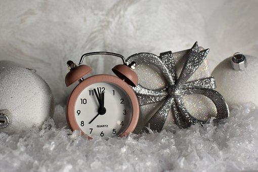 Clock, Ornaments, Snow, Decorative, Decoration, Time