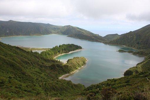 Lake Of Fire, Lake, Mountains, Crater, Natural, Lagoon