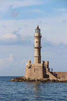 Ancient Lighthouse, Lighthouse, Mediteran, Crete