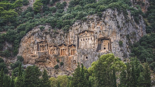 Tomb, Cliffs, Engravings, Culture, Tradition, Mountains