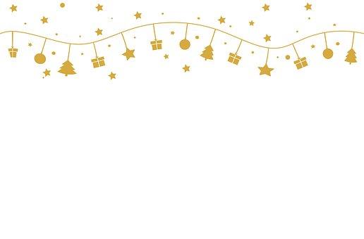 Garland, Stars, Gifts, Christmas, Decoration