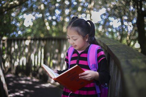 Kids, Kid, Kid Reading Book, Good Kid, Smart Girl