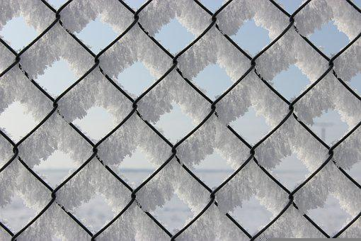 Fence, Snow, Frost, Chain Link, Frozen, Ice, Cold