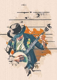 Musician, Instrument, Banjo, Ukulele, Country Song