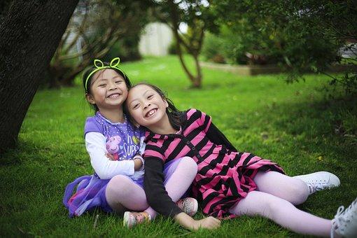 Girls, Children, Sisters, Friends, Sisterhood, Kids