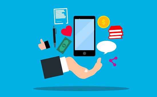 Mobile Phone, Apps, Marketing, Concept, Heart, Money