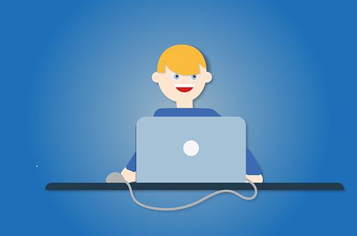 Laptop, Office, Online Meeting, Person, Homeschooling