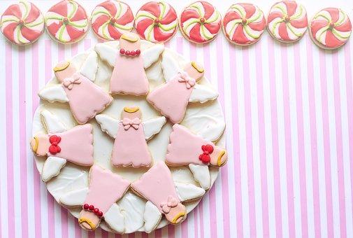Cookies, Angels, Treats, Royal Icing Cookies