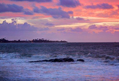 Ocean, Waves, Rocks, Beach, Sea, Serrambi