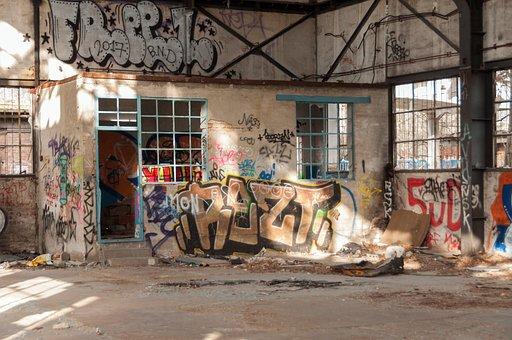 Abandoned Building, Graffiti, Building, Ruin, Shabby