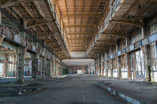 Abandoned Building, Building, Factory, Industry, Shabby