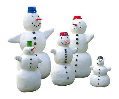 Snowman, Snowmen, Family, Snow, Figures, Snow Figures