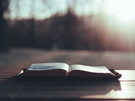 Bible, Book, Pages, Table, Surface, God, Sunbeam