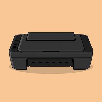 Inkjet, Printer, Machine, Document, Technology, Icon