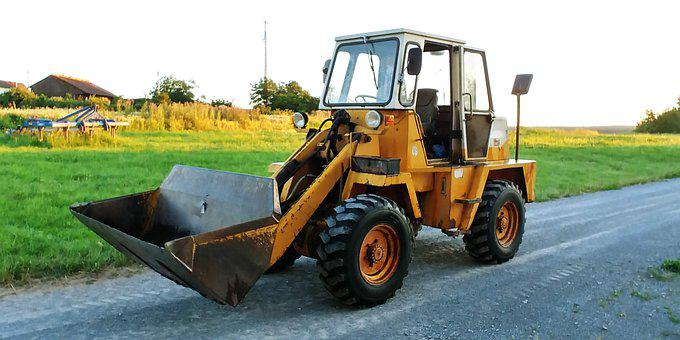 Wheel Loader, Out, Away, Lane, Machine