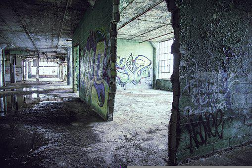 Abandoned, Ruin, Graffiti, Dilapidated, Old, Demolition