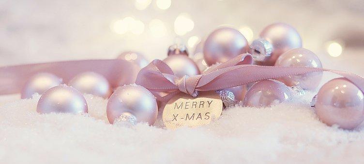 Christmas, Christmas Balls, Banner, Snow