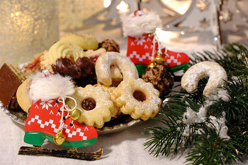 Christmas, Cookies, Food, Snack, Dessert, Pastry, Baked